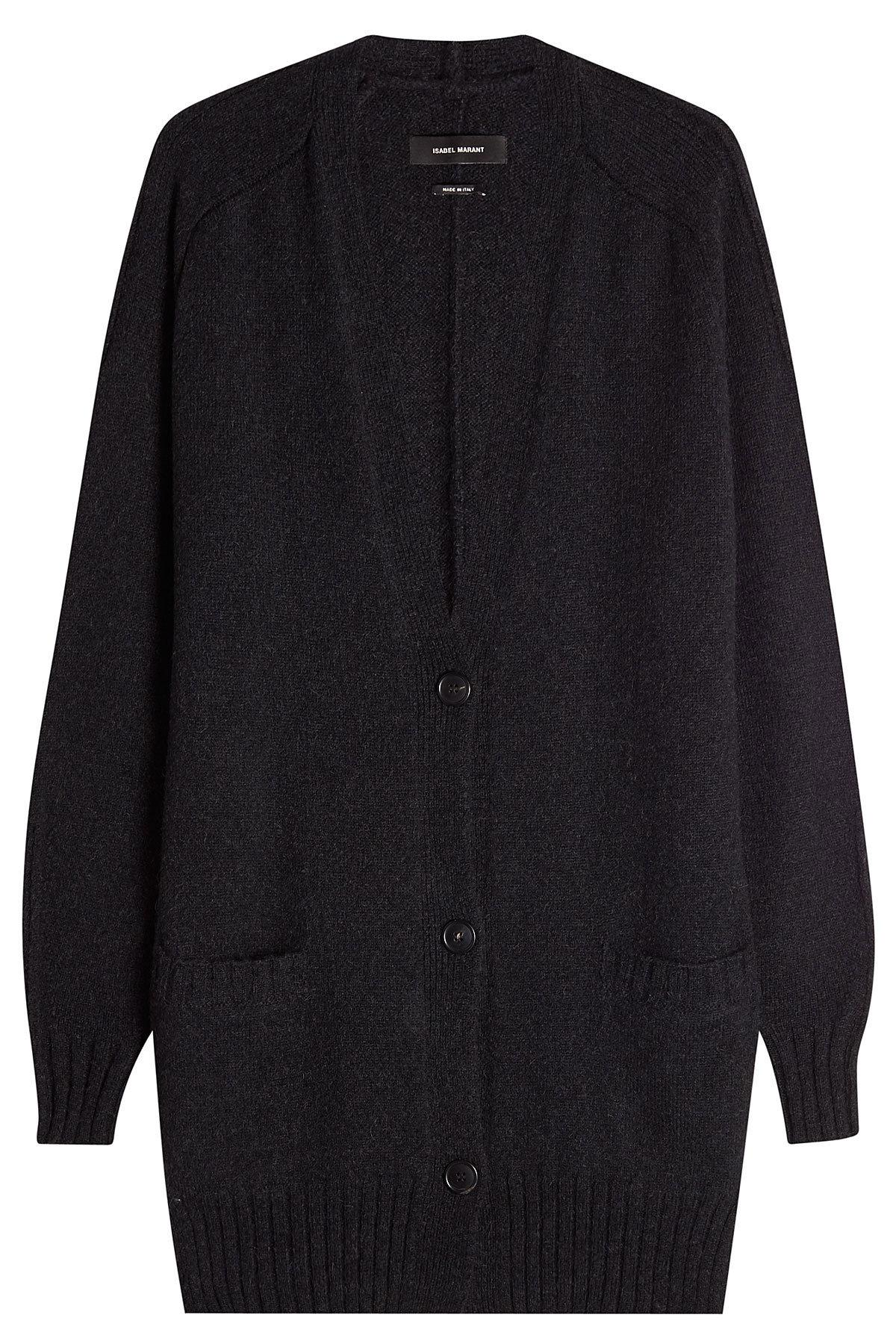 Isabel Marant Cardigan With Wool And Baby Camel In Black