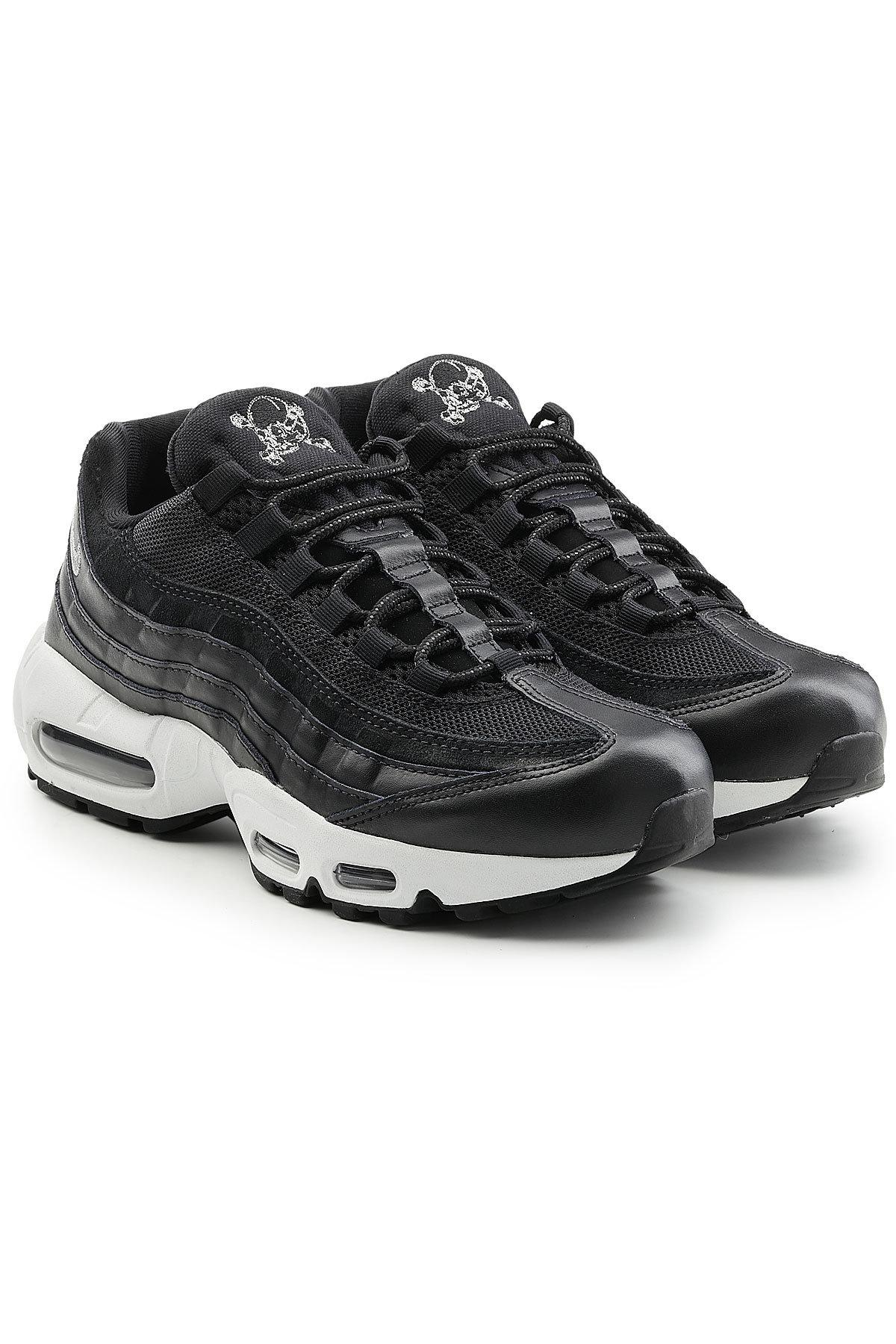 Nike Air Max 95 Premium Sneakers With Leather In Black