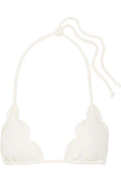 Marysia Broadway Scalloped Triangle Bikini Top