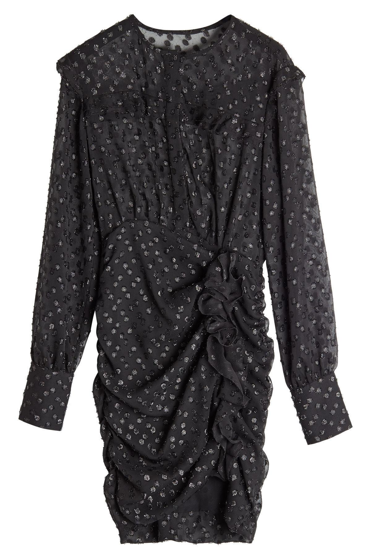 Isabel Marant Dress With Metallic Thread In Black