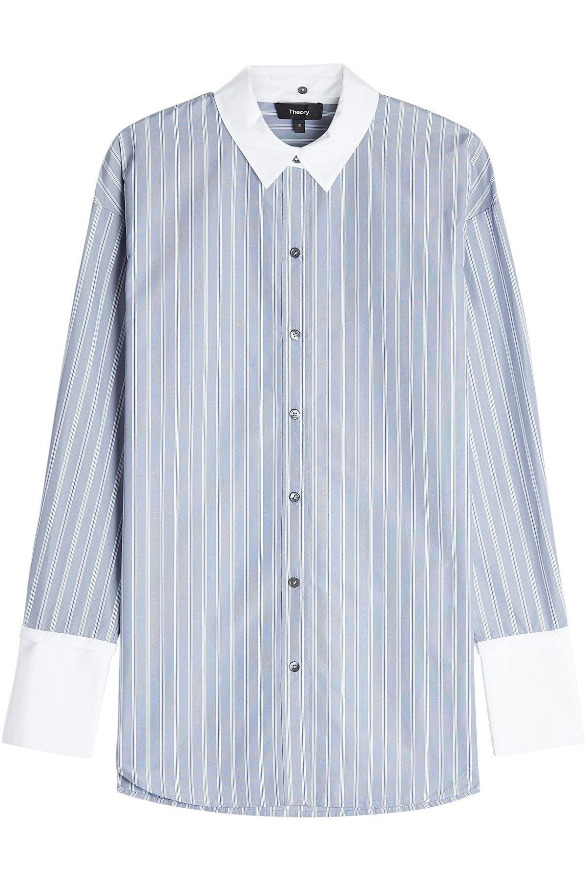 Theory Striped Shirt With Cotton In Stripes