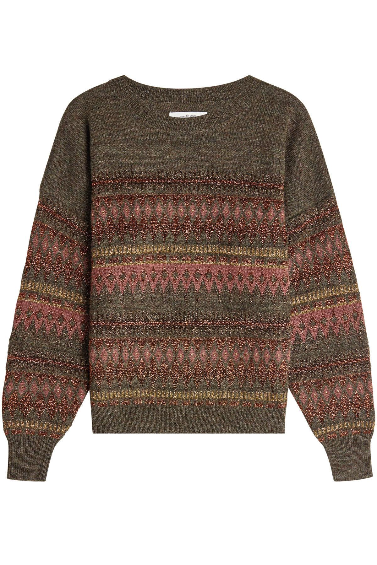 Etoile Isabel Marant Pullover With Wool And Metallic Thread In Multicolored