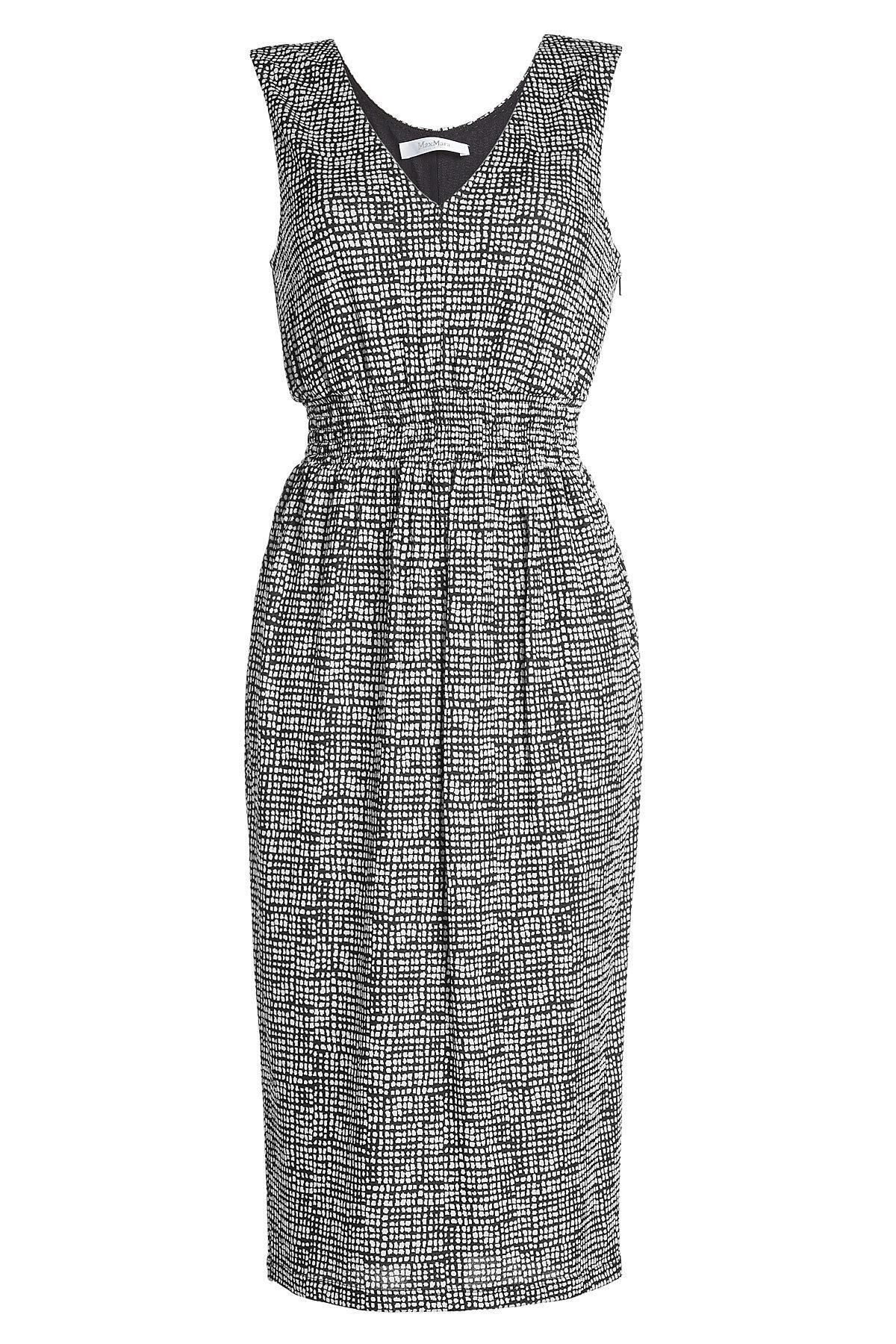 Max Mara Printed Dress In Black
