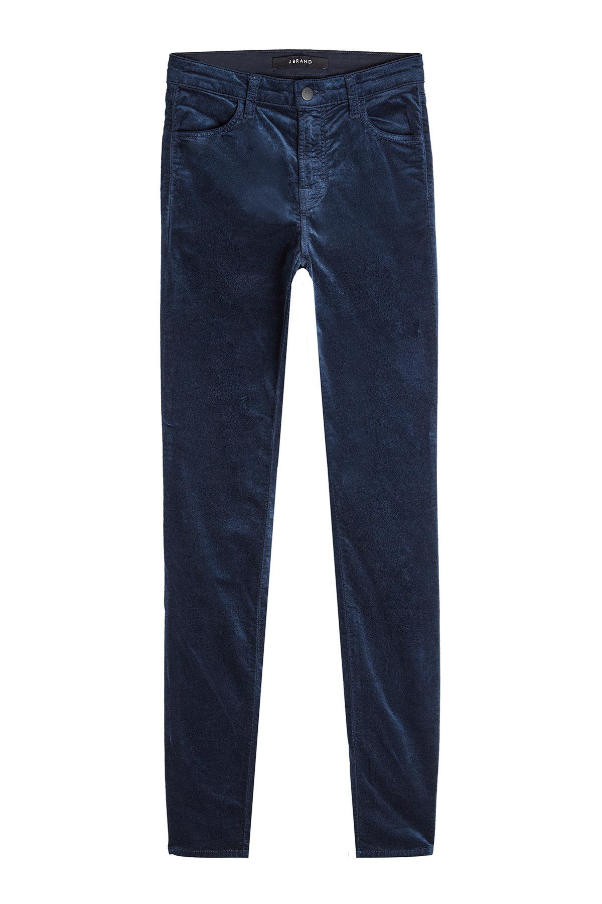 J Brand Velvet Corduroy Pants With Cotton In Blue