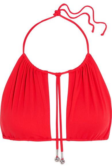 La Perla Beach Glaze Crystal-Embellished Triangle Bikini Top