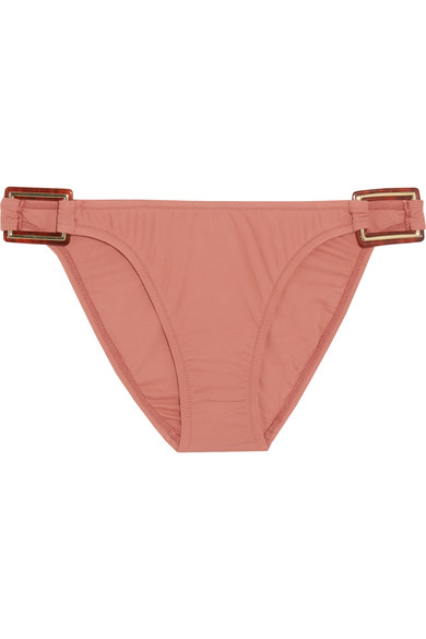 Melissa Odabash Paris Embellished Bikini Briefs In Brick
