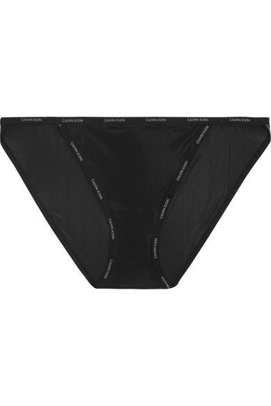 Calvin Klein Underwear Sheer Marq Stretch Briefs In Black