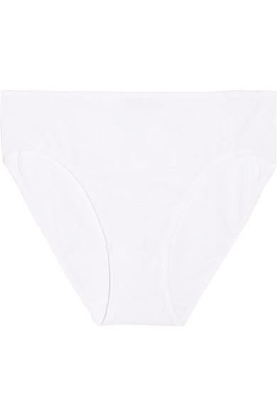 Hanro HÉLÈNe Ribbed Stretch-Modal Jersey Briefs In White