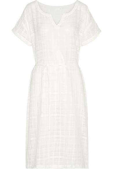 Skin Crinkled Cotton-Gauze Nightdress In White