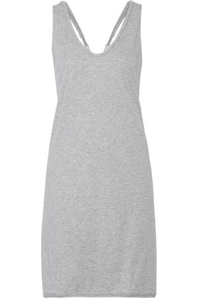 Skin Pima Cotton-Jersey Nightdress In Gray