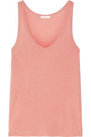 Skin Organic Pima Cotton-Jersey Pajama Top In Antique Rose
