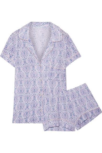 Eberjey Timba Printed Stretch-Modal Jersey Pajama Set