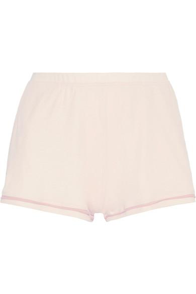 Skin Eugene Organic Pima Cotton-Jersey Pajama Shorts In Blush