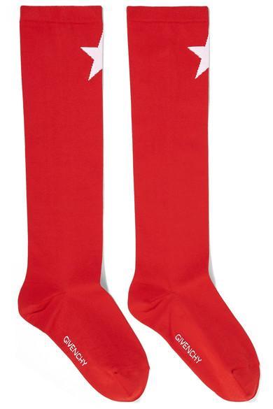 Givenchy Star-Intarsia Knitted Socks