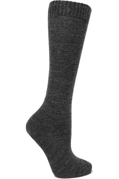 Isabel Marant Adelia Knitted Knee Socks In Dark Gray