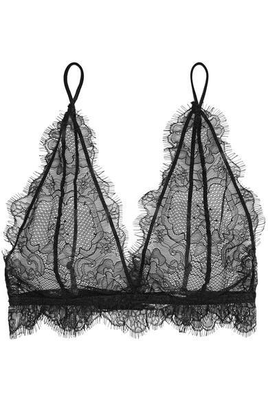 637fb9de1b983 Anine Bing Lace Soft-Cup Bra In Black