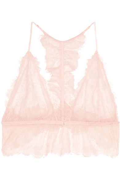 Anine Bing Lace Soft-Cup Bra