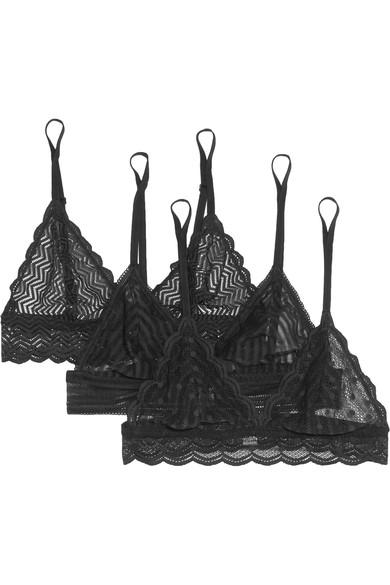 Cosabella Sweet Treats Set Of Three Stretch-Lace Soft-Cup Bras
