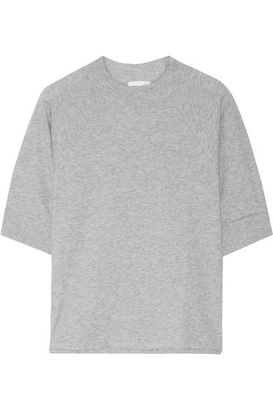 Skin Pima Cotton-Jersey Pajama Top In Gray