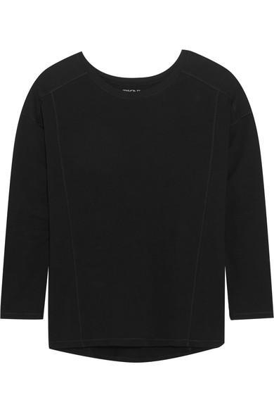 Dkny Stretch-Pima Cotton Jersey Top In Black
