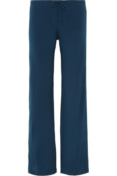 La Perla Souple Stretch-Cotton Jersey Pajama Pants In Royal Blue