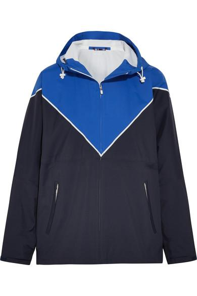 Tory Sport Hooded Color-Block Shell Track Jacket