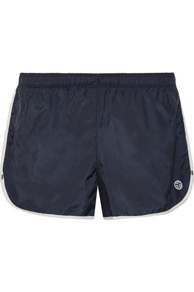 Tory Sport Taffeta Shorts In Storm Blue