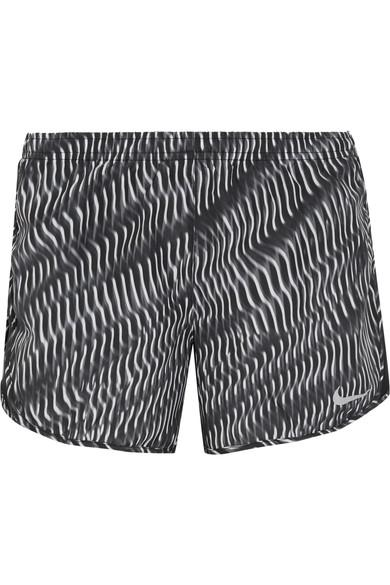 Nike Tempo Mesh-Trimmed Printed Shell Shorts In Black