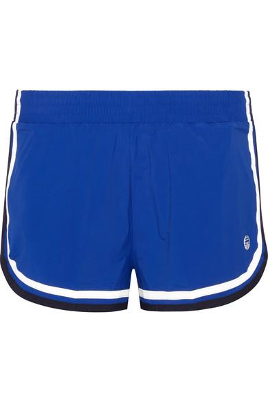 Tory Sport Striped Stretch-Shell Shorts