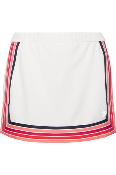 Tory Sport Striped PiquÉ Skirt