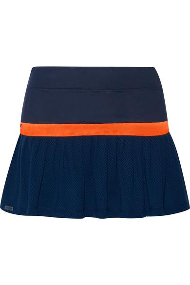 L'Etoile Sport Two-Tone Stretch-Jersey And Mesh Tennis Skirt