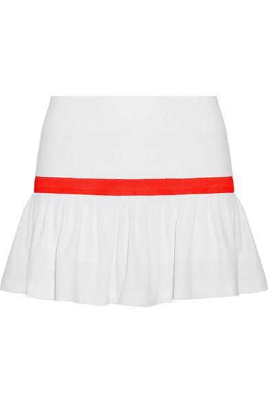 L'Etoile Sport Two-Tone Stretch-Knit And Mesh Tennis Skirt