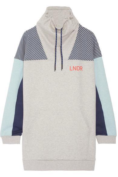Lndr Noodie Printed Cotton-Blend Jersey Sweatshirt In Gray