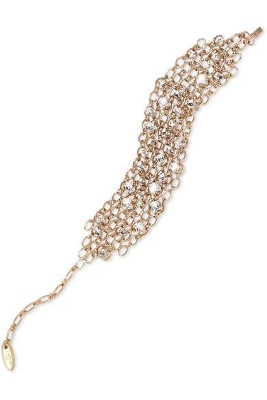 Lanvin Gold-Tone Swarovski Crystal Bracelet