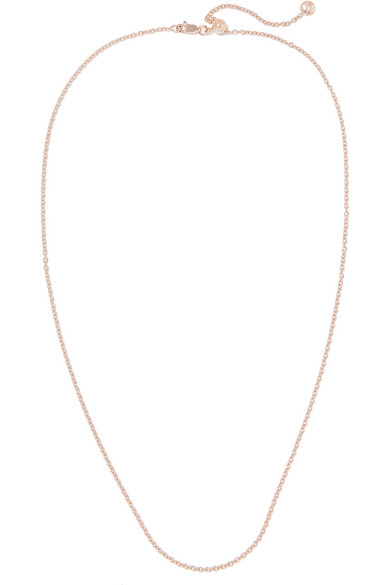Monica Vinader Rolo 24'' Rose Gold Vermeil Chain