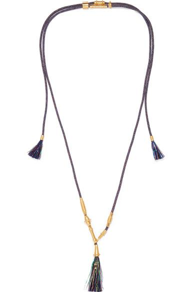 ChloÉ Tasseled Gold-Tone Cord Necklace