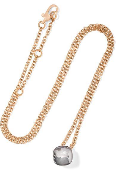 Pomellato Nudo 18-Karat Rose And White Gold Topaz Necklace In Rose Gold