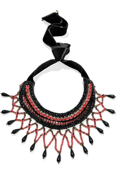 Etro Crystal And Bead Necklace
