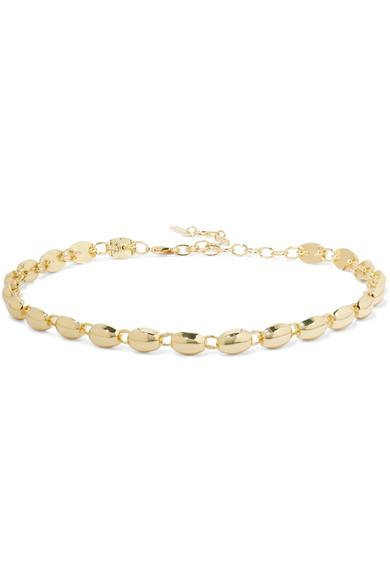 Elizabeth And James Rosa Blake Choker Necklace In Gold