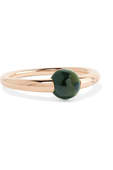 Pomellato M'Ama Non M'Ama 18-Karat Gold Tourmaline Ring In Rose Gold