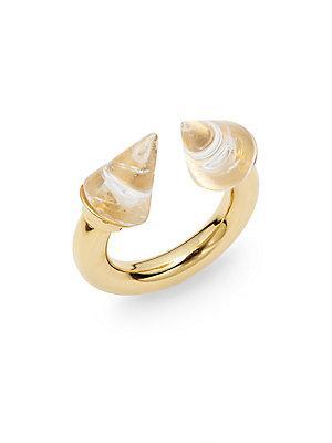 Vita Fede Titan Quartz Ring/Goldtone