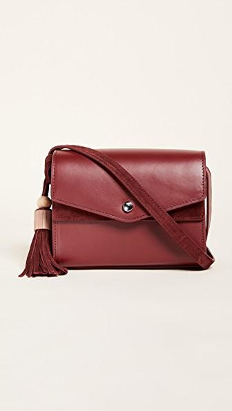 Elizabeth And James Eloise Field Crossbody Bag - Red In Cranberry
