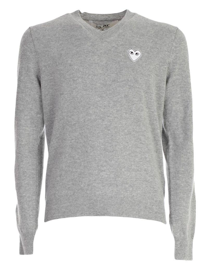 Comme Des GarÇOns Play Sweater In Grey