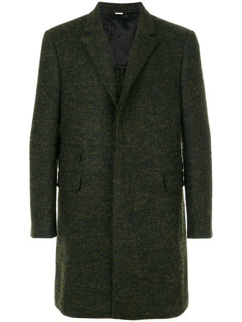 Stella Mccartney Notch-Lapel Wool-Blend Overcoat In Green