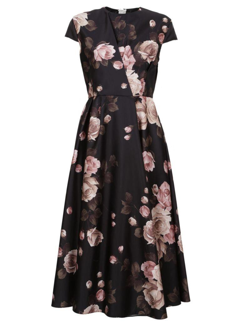 Rochas Floral Dress In Black Fantasy