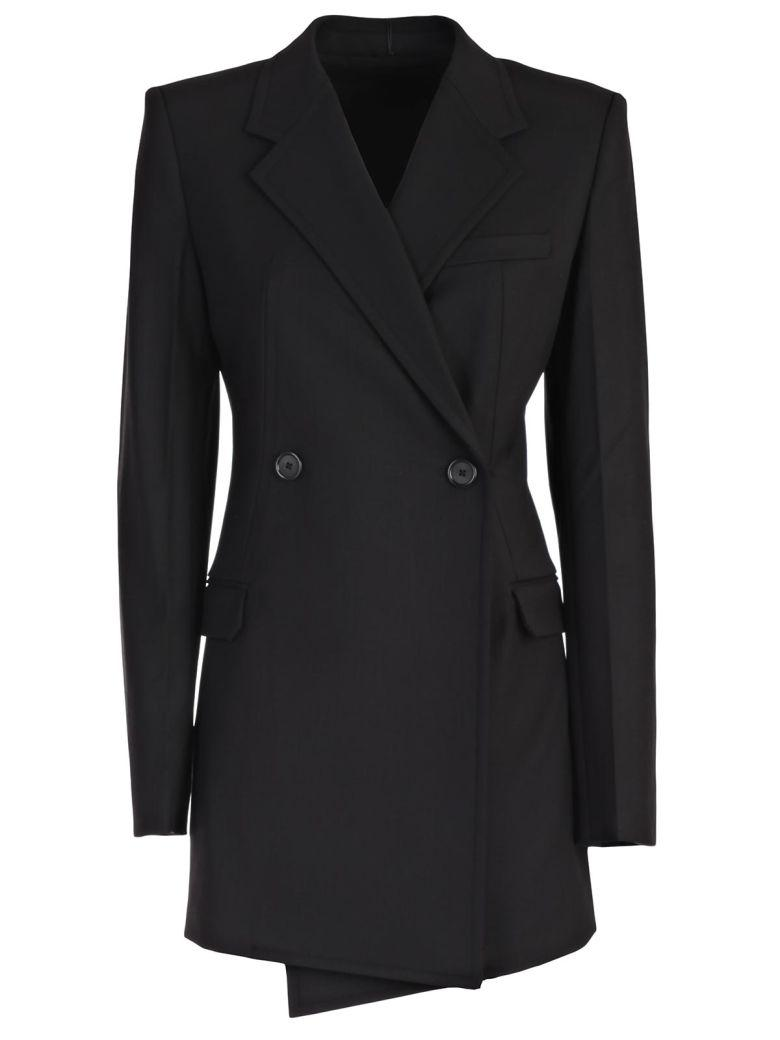 Helmut Lang Deconstructed Long Blazer In Black