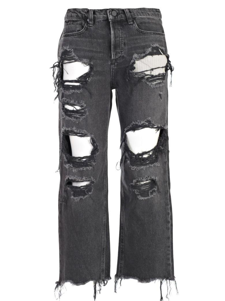 T By Alexander Wang Jeans In Grey