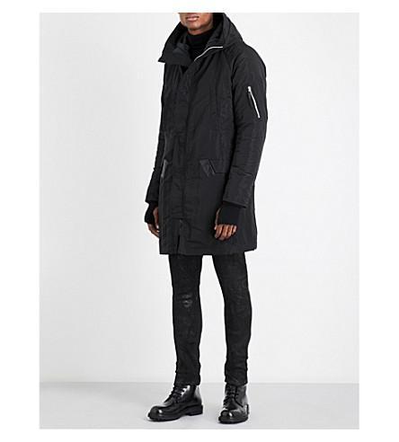 11 By Boris Bidjan Saberi Hooded Shell Jacket In Black