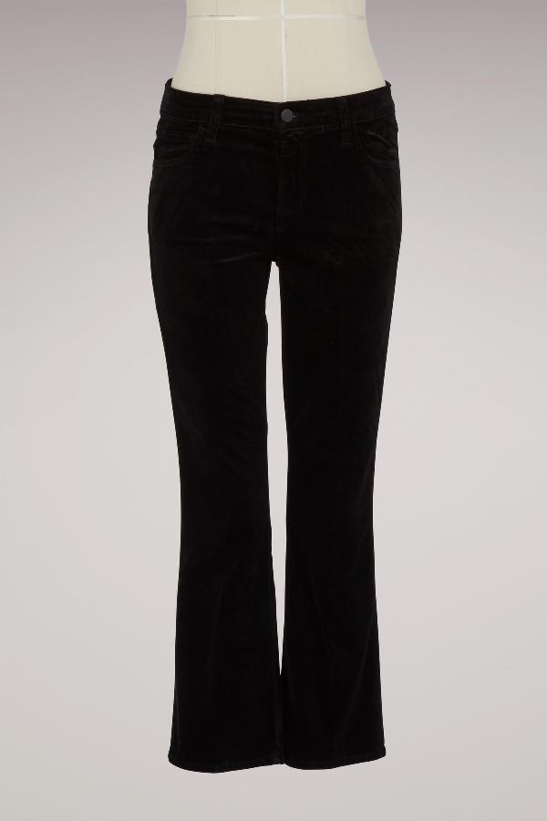 J Brand Selena Mid Rise Crop Boot In Black