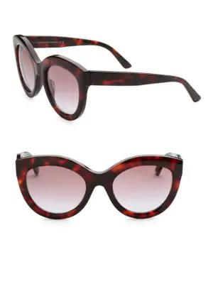 Balenciaga 54Mm Cat Eye Sunglasses In Havana